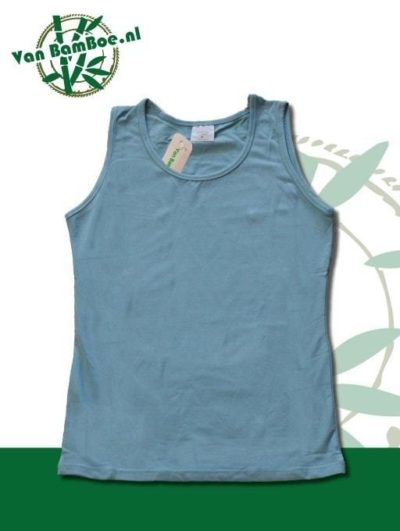 Bamboe dames hemd/singlet - licht blauw