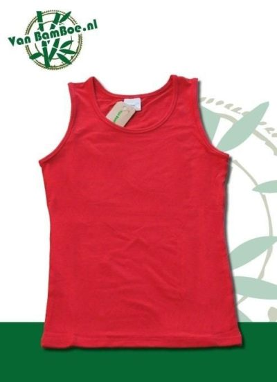 Bamboe dames hemd/singlet - rood
