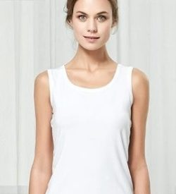 Bamboe dames hemd/singlet/tanktop wit