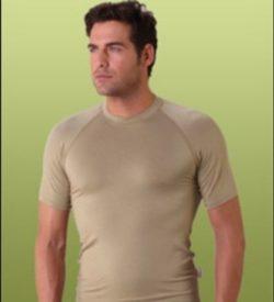 Bamboe heren t-shirt sand